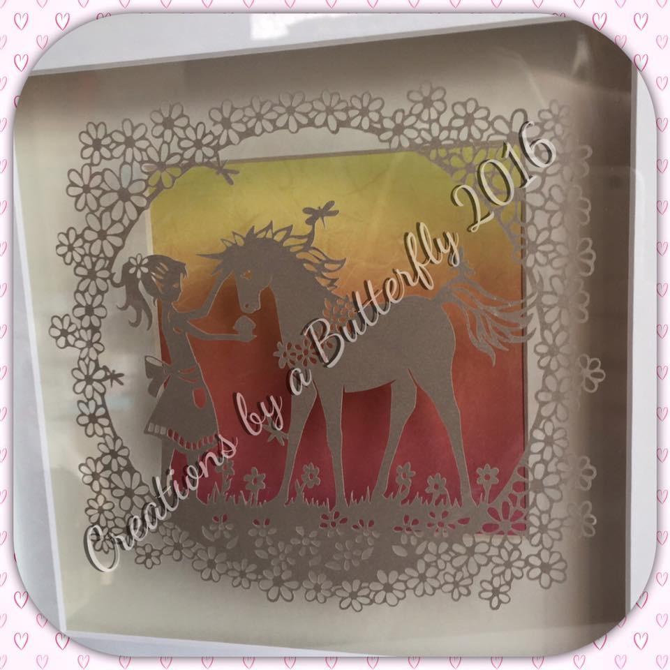 Unicorn Treats- Hand Cut Paper Cut
