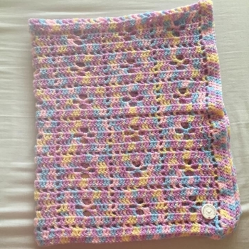 Crochet Baby Blanket Mermaid - 29x34 inches