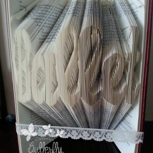 Book Folding Pattern 'Ballet' (285 Folds)