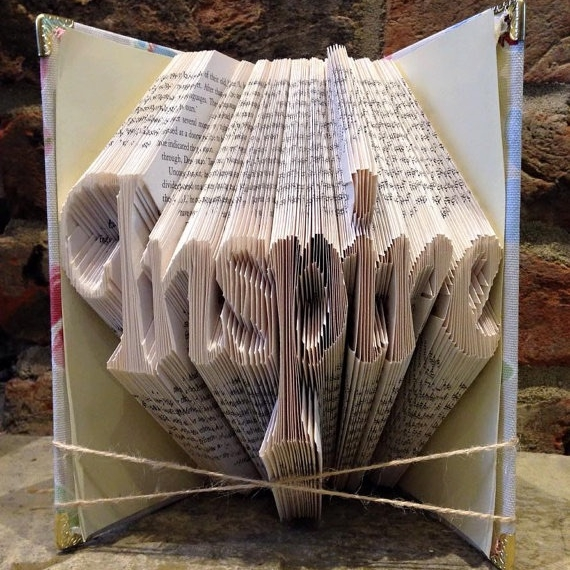 Book Folding Pattern 'inspire' with Hearts (296 Folds)