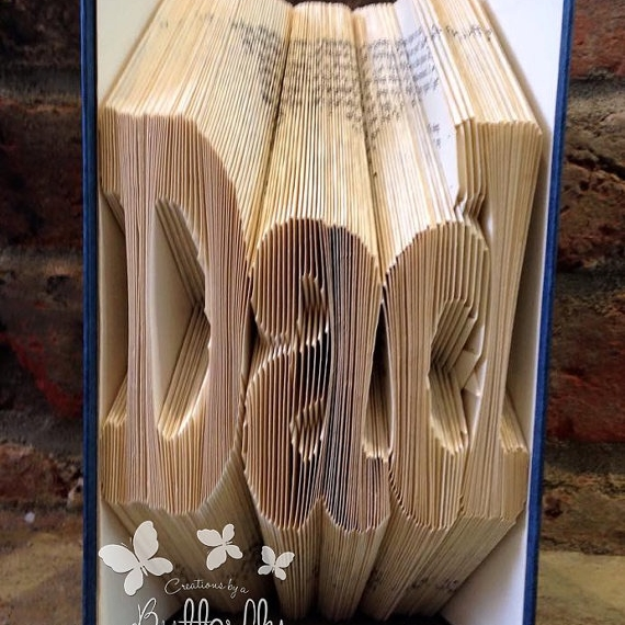Book Folding Pattern 'Dad' Fun Font (222 Folds)