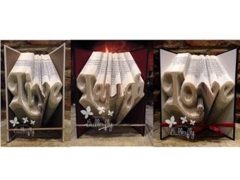 Book Folding Pattern 'Live, Love Laugh' (3 pattern pack)