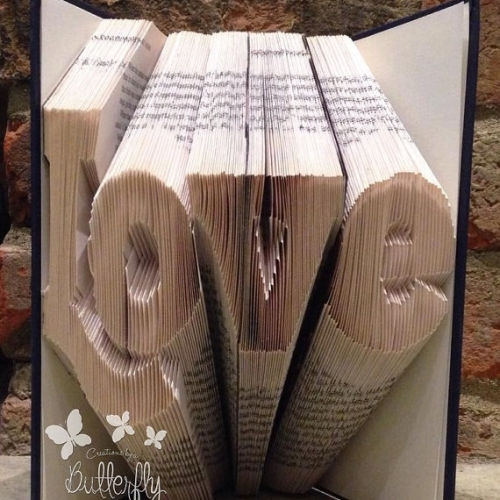 Book Folding Pattern 'Love' (288 Folds)