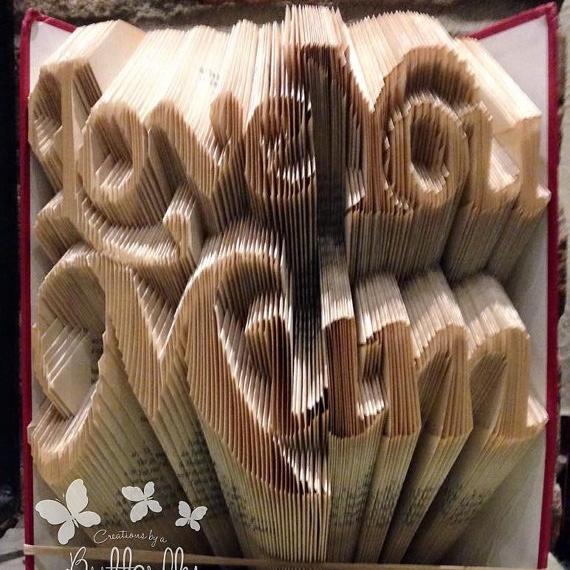 Book Folding Pattern 'Love you Mum' (555 Folds)