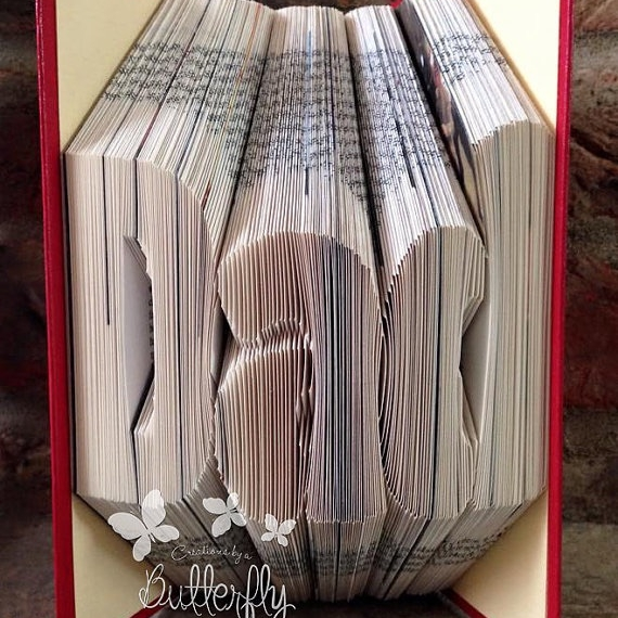 Book Folding Pattern 'Dad' Bold Font (265 Folds)