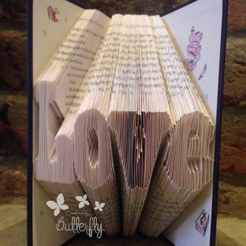 Book Folding Pattern 'Love' (169 Folds)