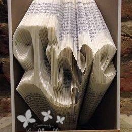Book Folding Pattern 'Live' (254 Folds)