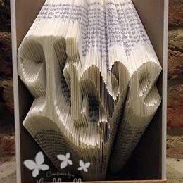 Book Folding Pattern 'Live' (254 Folds)