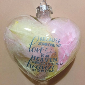 Because someone we love Heart Shape Bauble