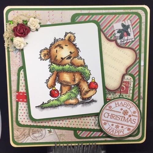 Teddy Handmade Christmas Card