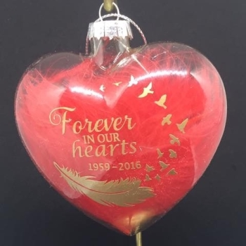 Forever in our hearts Glass Bauble