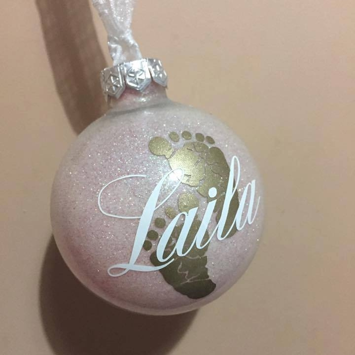 Baby's Christmas Decoration - 9cm shatterproof bauble