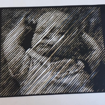 Your image as A Halftone Paper Cut - up to A4 size