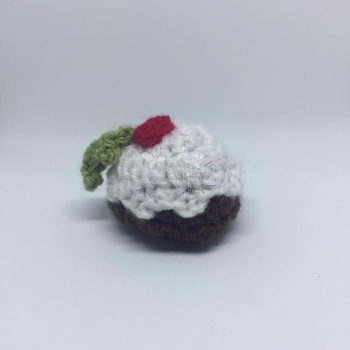Miniature Christmas Pudding - with Sparkle top - small Chocolate size