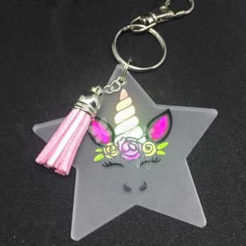Frosted Star Unicorn Unicorn Bag Charm