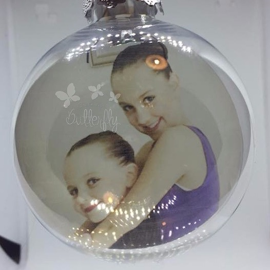 Your photo inside a 9cm shatterproof bauble