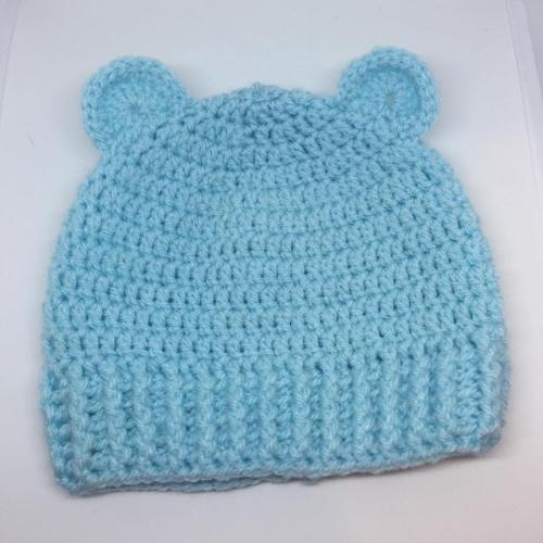 Crochet Teddy Beanie *0-3 mts*