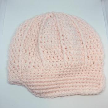 Pale Pink Newsboy Hat *6-9 Months*