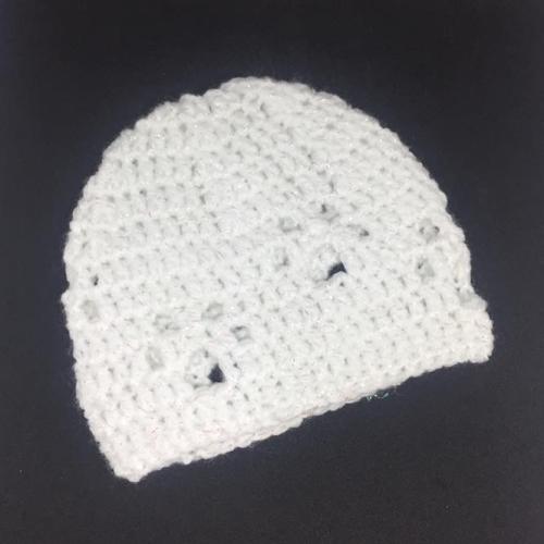 Crochet Paw Print Beanie *Newborn*