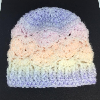 Crochet Butterfly Beanie *0-3 mts*
