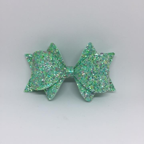 Peppermint Princess Chunky Glitter Hair Bow