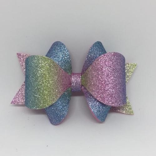 Fine Glitter Rainbow Bow