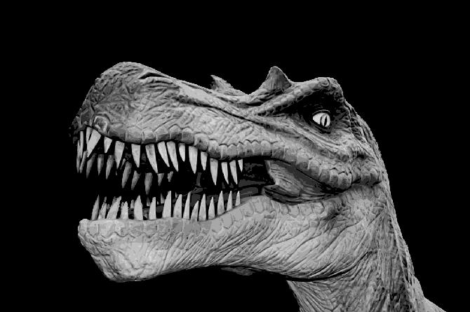 Layered Paper Cutting Template - Dinosaur 1 - 8 layers