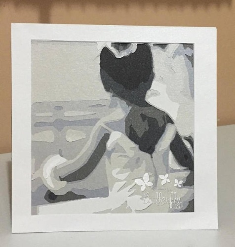 Layered Paper Cutting Template - Little Ballerina 1 - 8 layers