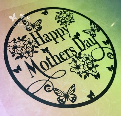 Happy Mothers Day Paper Cutting Template *Commercial Use*