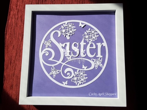 Sister - Paper Cutting Template *Commercial Use*