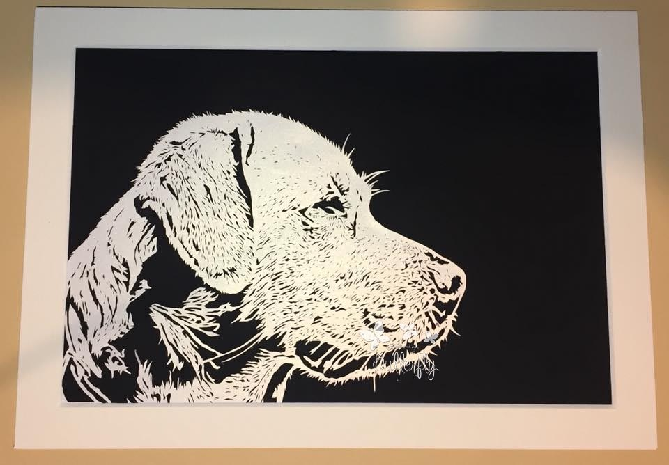 Labrador dog Paper Cut
