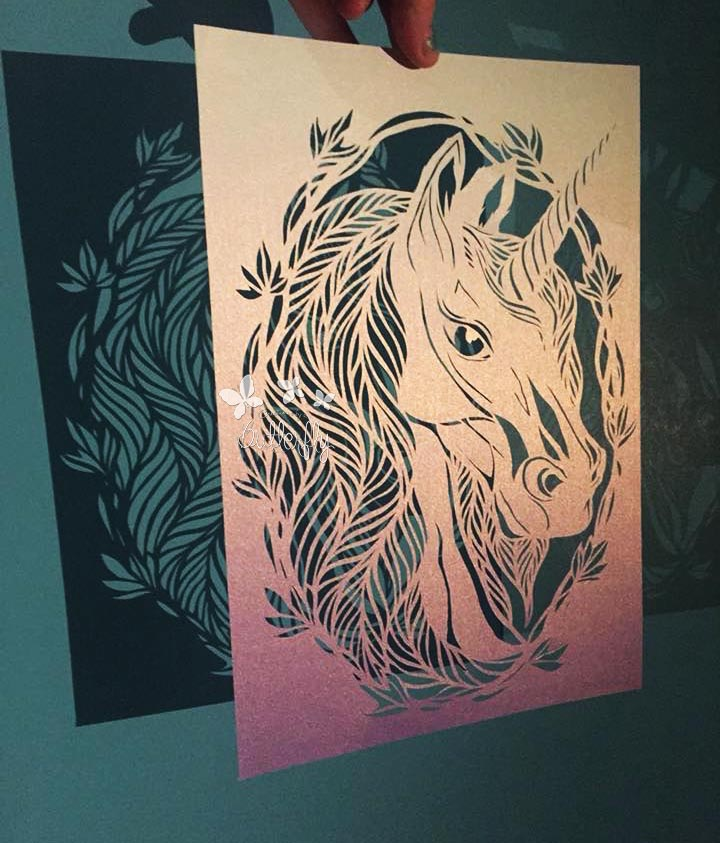 Purity Unicorn Paper Cut