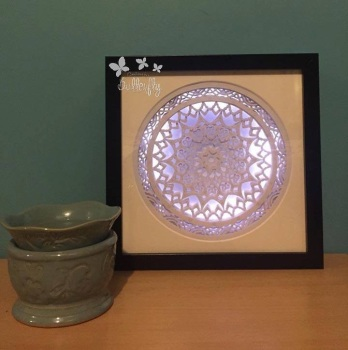 Light up Layered Mandala Paper Cut