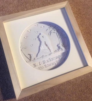 Light up Layered Wedding Paper Cut **Fully Personalised**