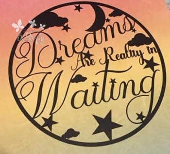 Dreams are Reality in Waiting - Paper Cutting Template *Commercial Use*