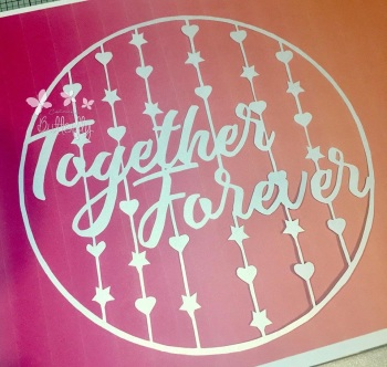 Together Forever - Paper Cutting Template *Commercial Use*