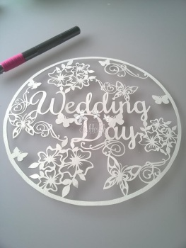 Wedding Day - Paper Cutting Template *Commercial Use*