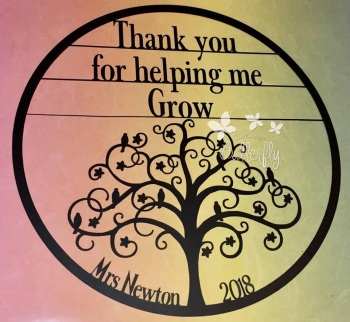 Thank you for Helping me Grow - Paper Cutting Template *Commercial Use*