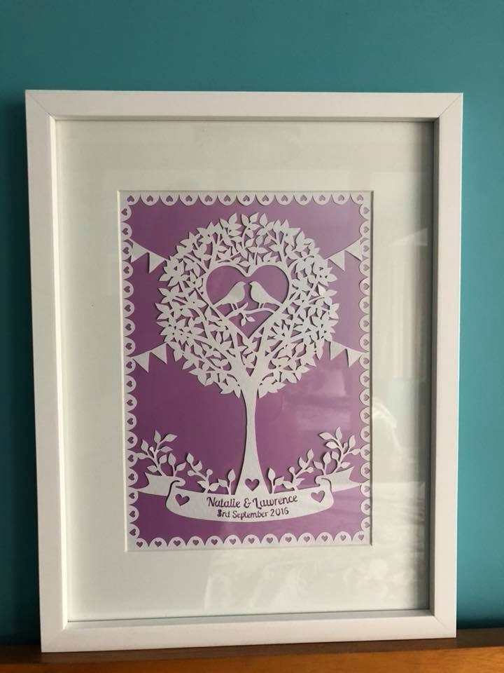 Tree with birds (Can be personalised) Paper Cut