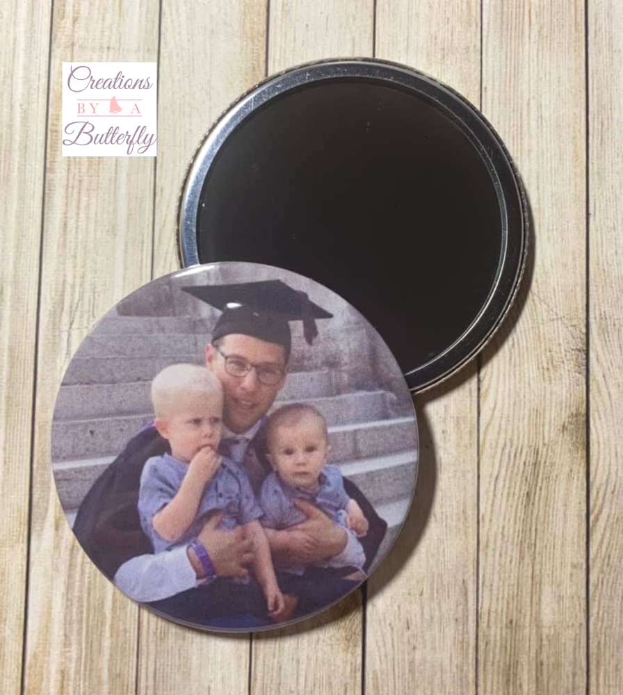 Personalised Pocket Mirror - 5.5cm
