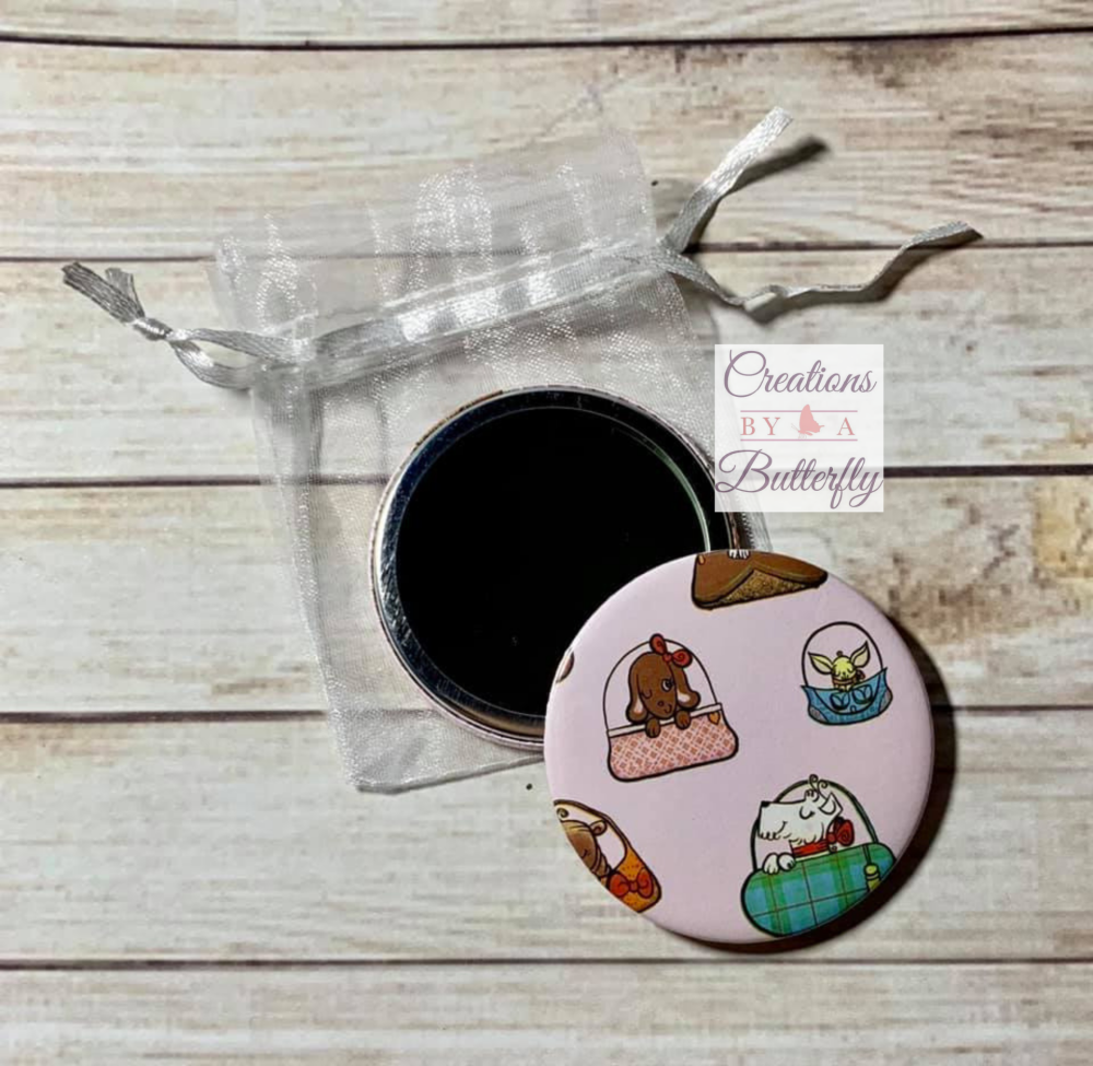 Dogs in bags Pocket Mirror - 5.7cm
