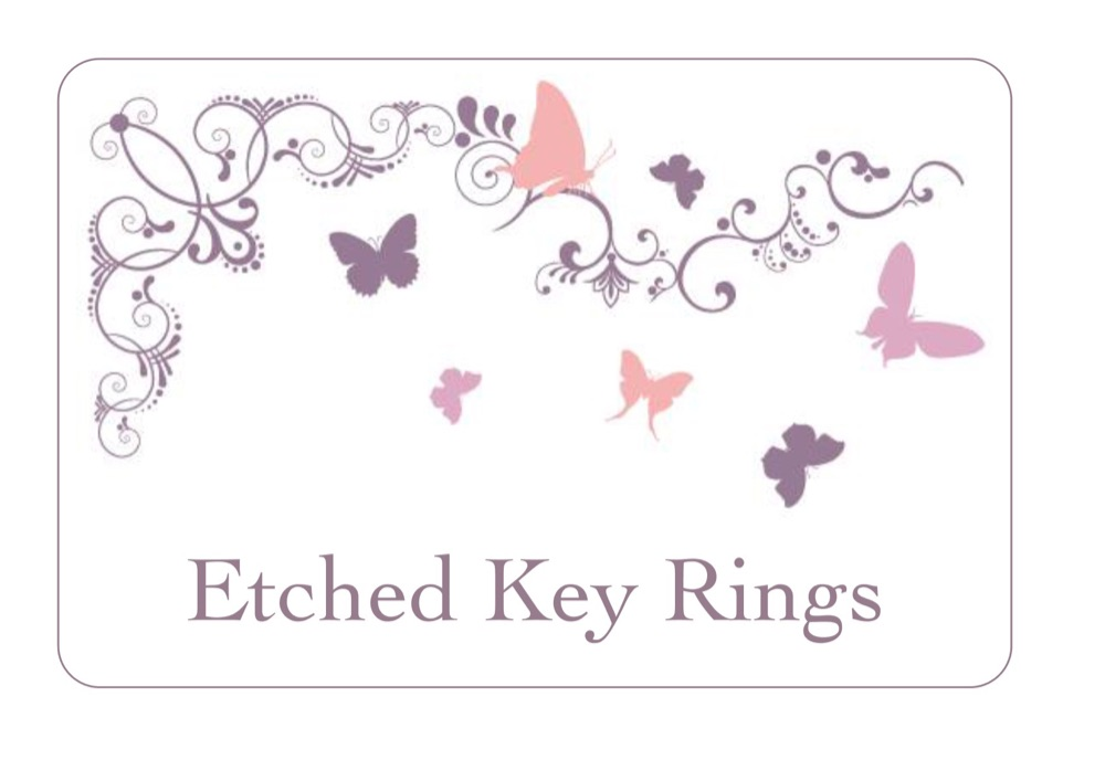 Etched Key Rings