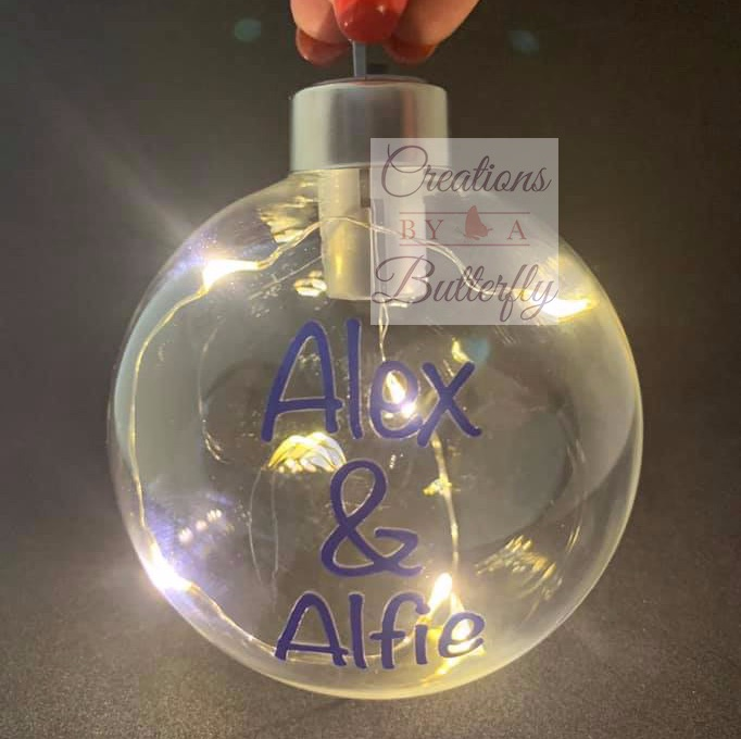 Personalised Light Up Bauble