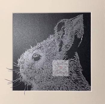 'Bunny' Hand cut Paper Cut