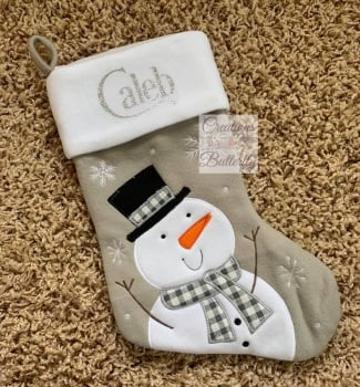 Personalised Snowman Stocking