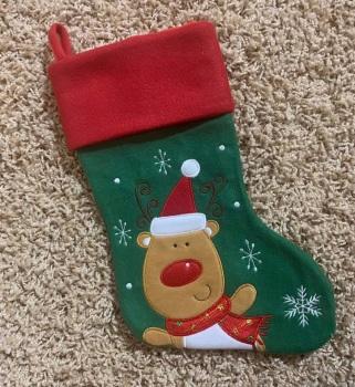 Personalised Fun Reindeer Stocking