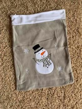 Personalised Snowman Sack