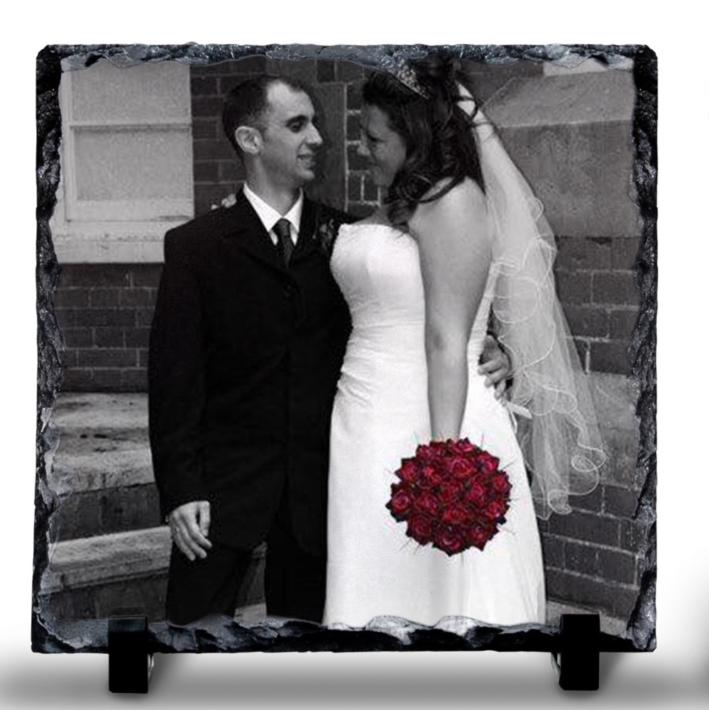 19x19 cm Photo Rock Slate