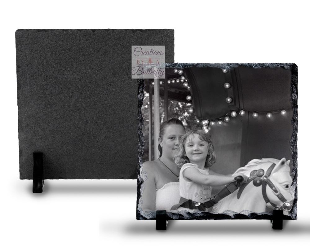 14x14 cm Photo Rock Slate