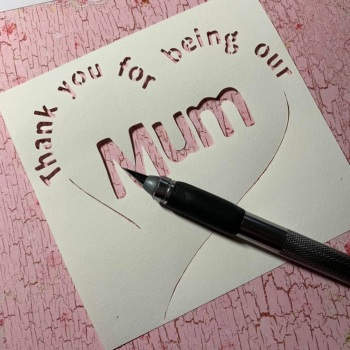 Thank you for Being our Mum - Paper Cutting Template *Commercial Use*